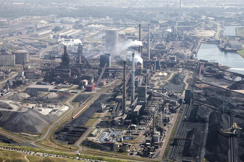 Tata steelworks, Ijmuiden, Netherlands