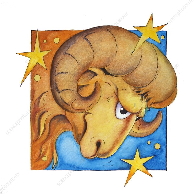 Aries zodiac sign, illustration