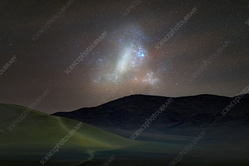 Large Magellanic Cloud over Atacama desert, Chile