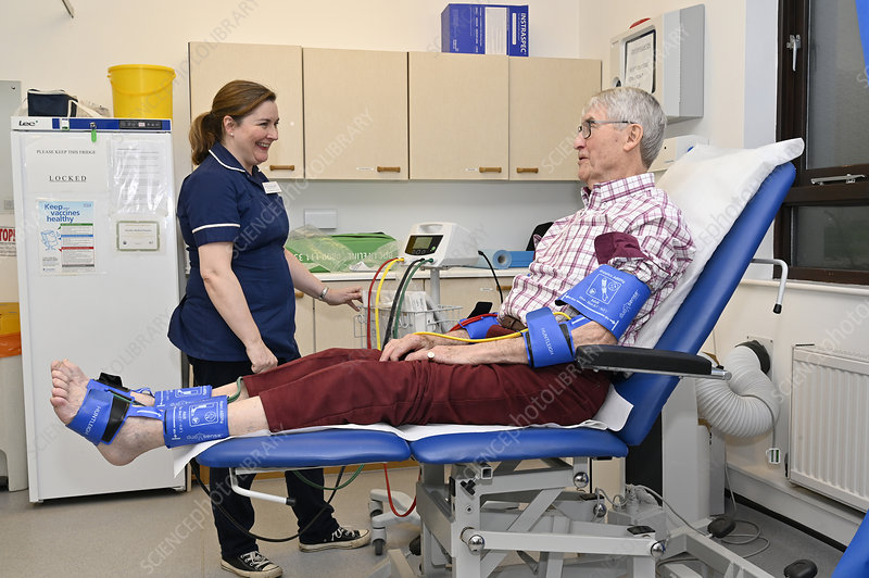 Ankle brachial pressure index test