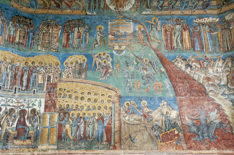 Fresco, Church of St. George, Voronet Monastery, Romania