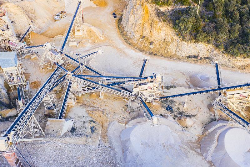 Quarry, aerial view