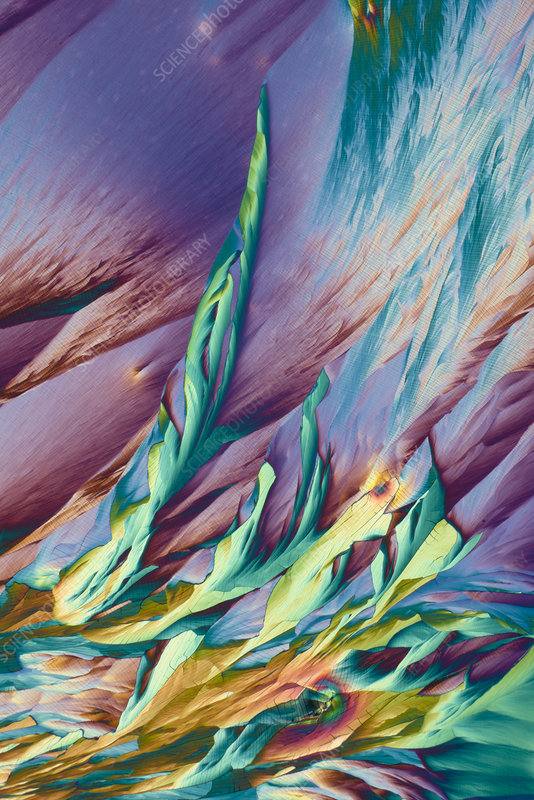 Aluminium potassium and copper sulphates, light micrograph