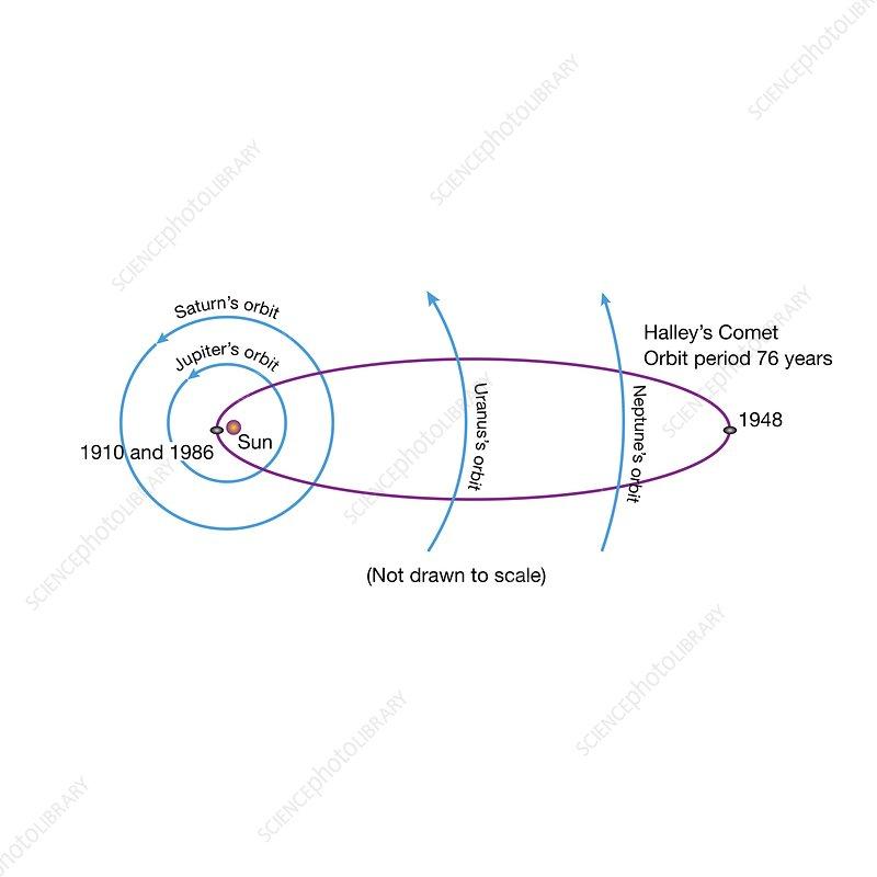 Path of Halley's Comet, illustration