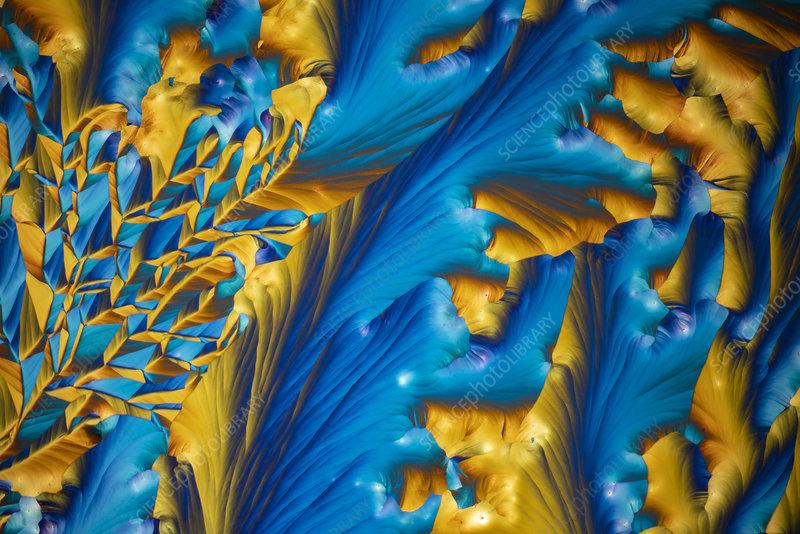 Chemical mixture, polarised light micrograph