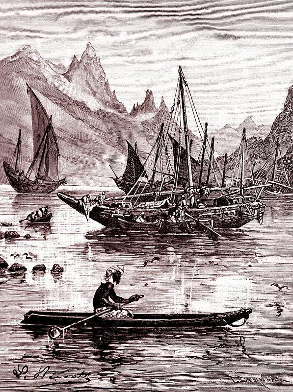 Red Sea, 19th Century illustration