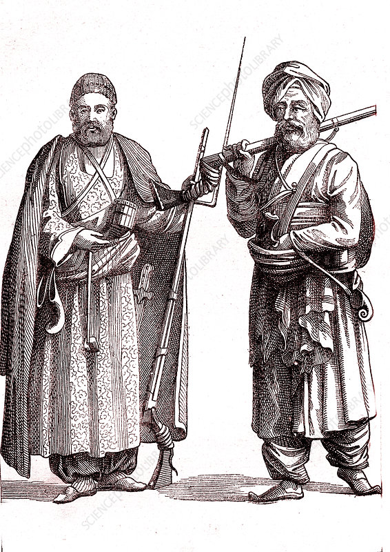 19th Century Afghan men, illustration