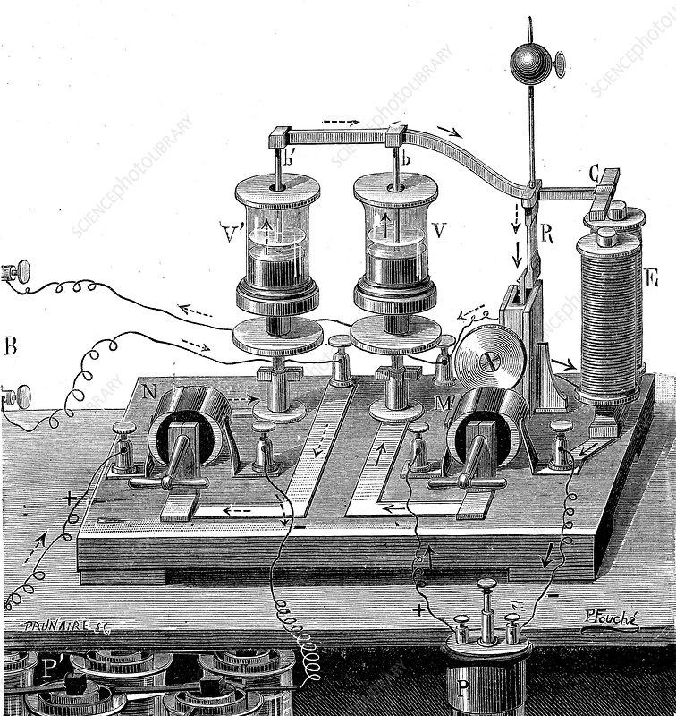 19th Century eddy switch, illustration