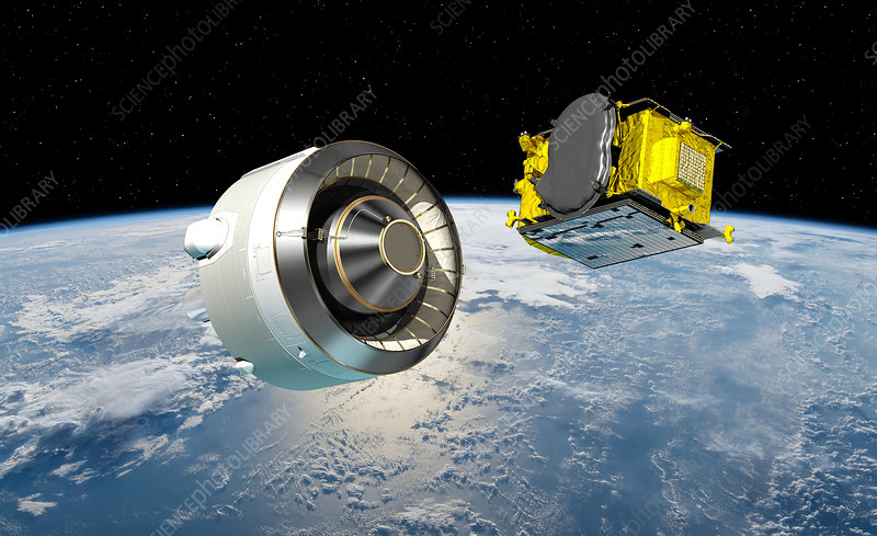 Eutelsat Quantum satellite being deployed, illustration