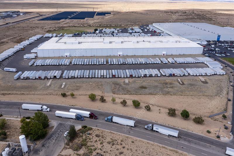 Walmart distribution centre, New Mexico, USA