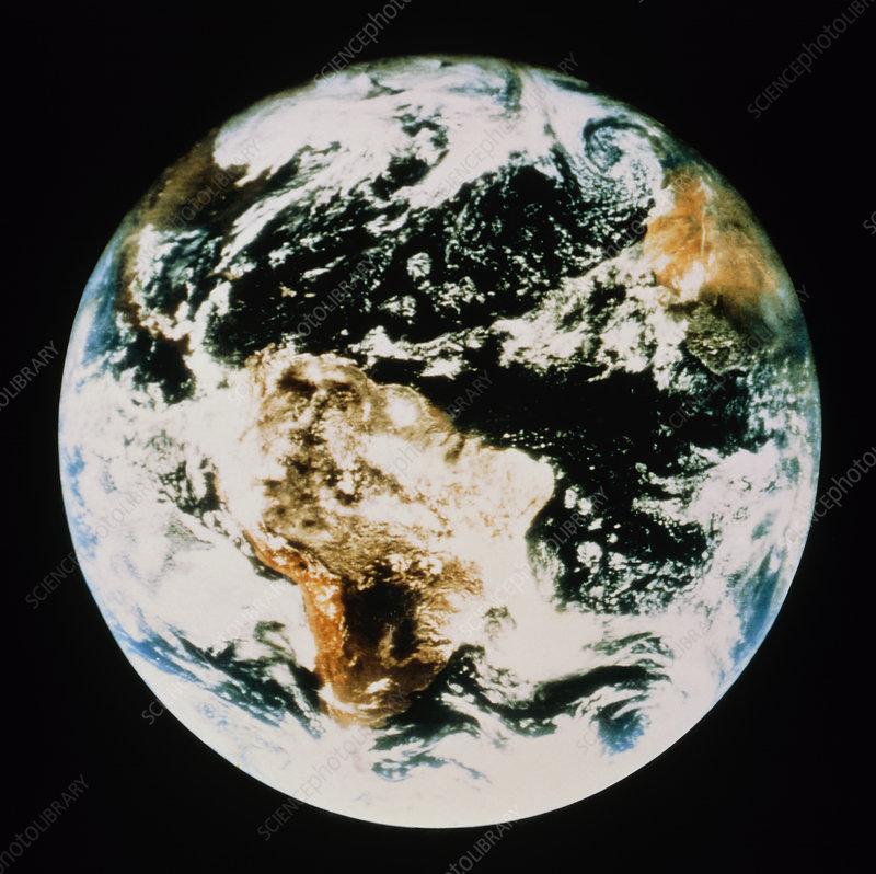 First colour whole Earth photo, ATS-III