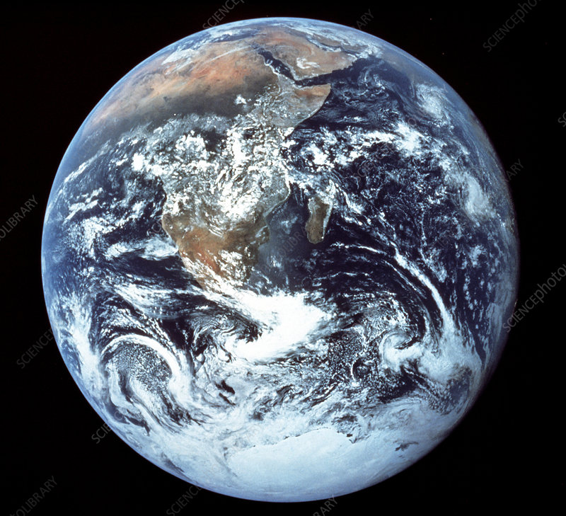 Apollo 17 photograph of whole earth