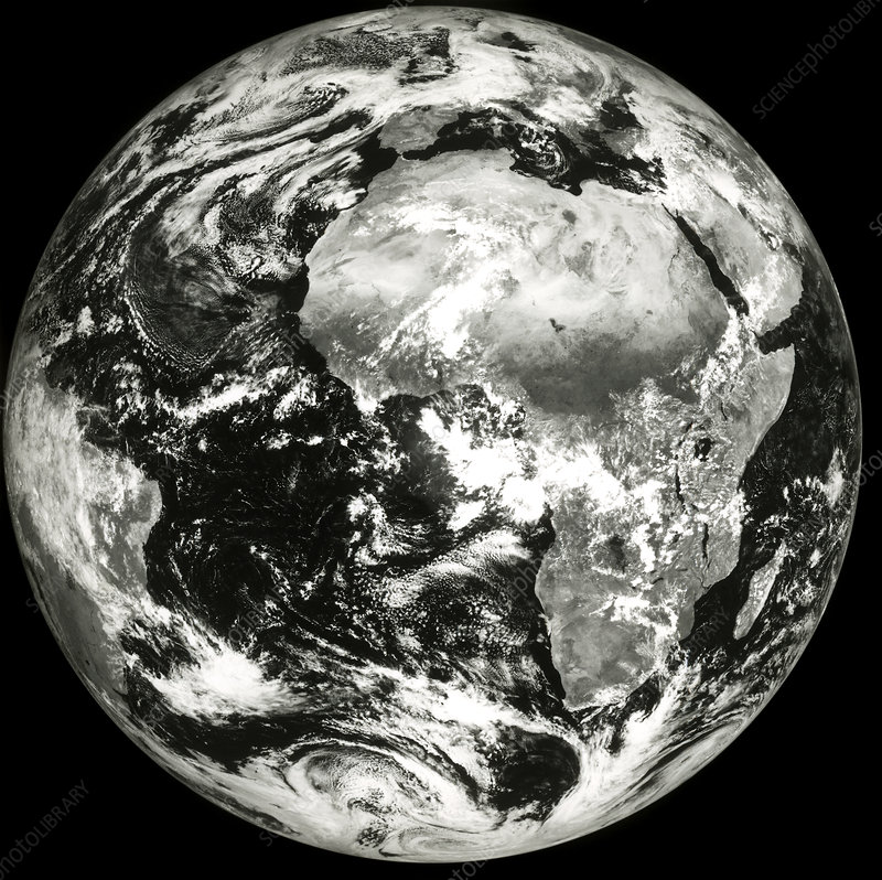 Meteosat image of the whole earth
