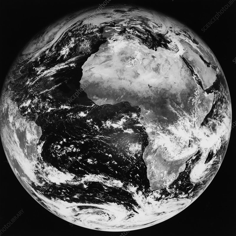 Meteosat image of whole Earth