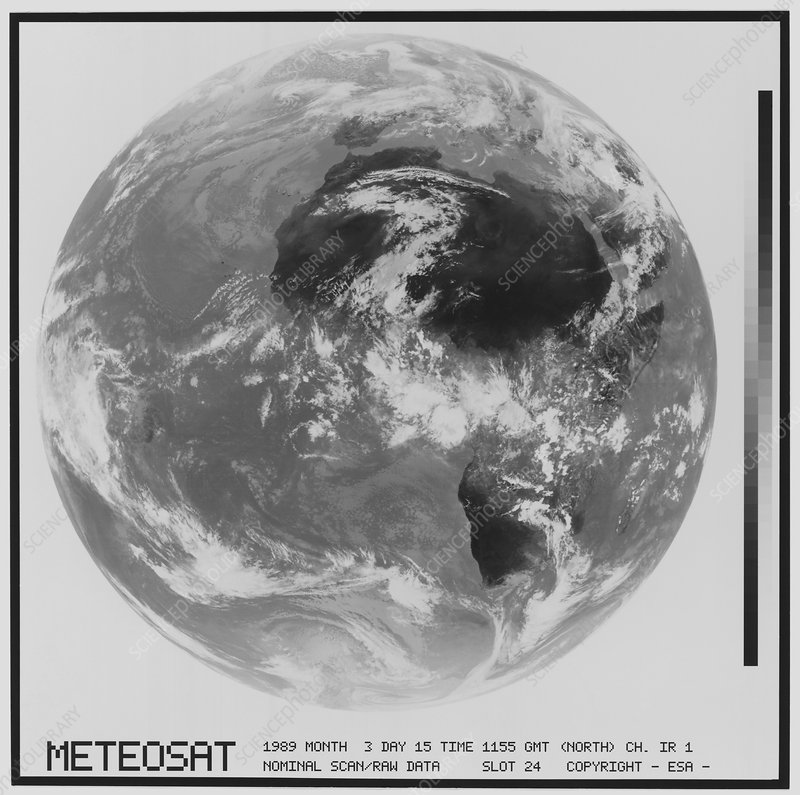 Meteosat infrared image of whole Earth