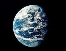 Apollo 11 image of Earth showing Pacific Ocean