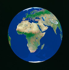 Geosphere view of Europe & Africa
