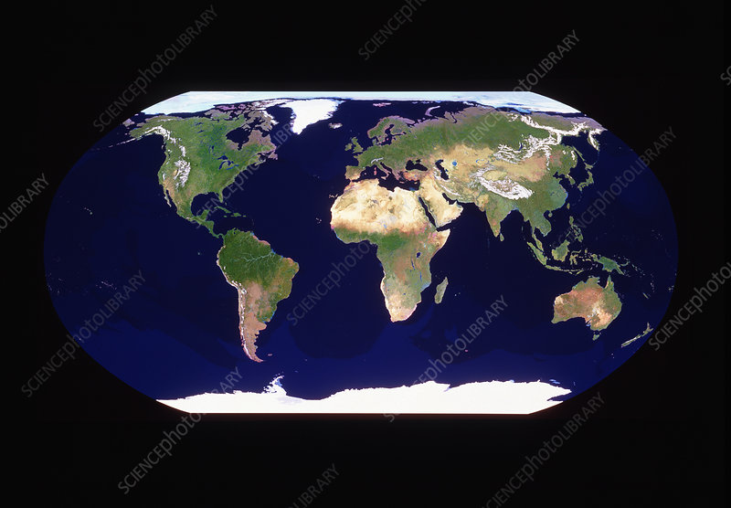 Whole earth in Robinson projection