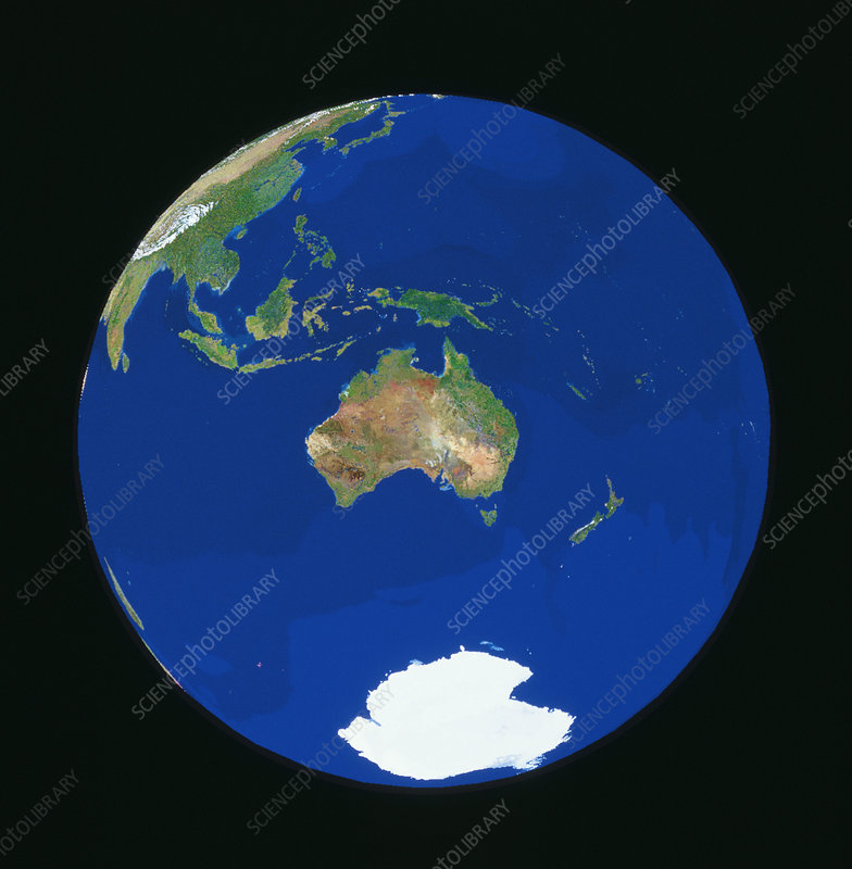 Satellite view of Australia