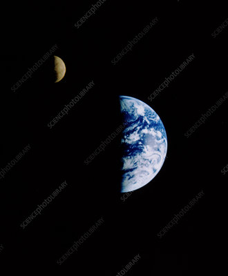 Earth & Moon seen from the Galileo probe