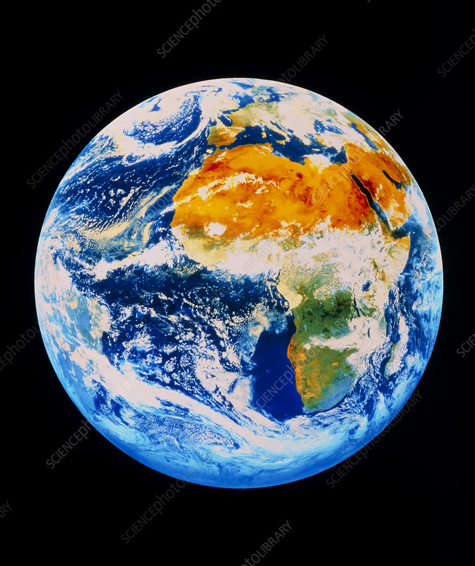Whole Earth image showing Africa