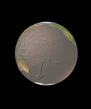 GeoSphere with bathymetry, Pacific Ocean