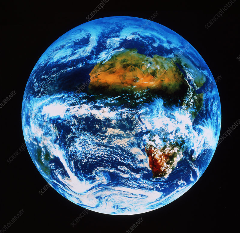 Earth from space, with Africa