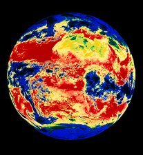 Meteosat thermal image of Earth
