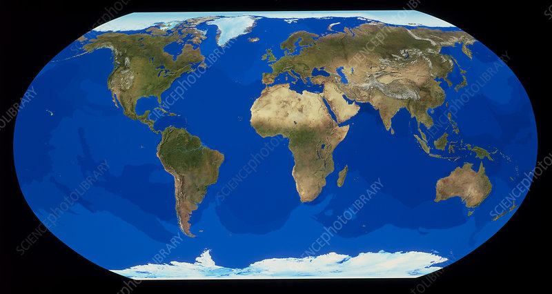 Whole Earth in flat projection