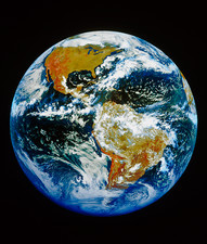 G0ES satellite image of Earth centred on Americas