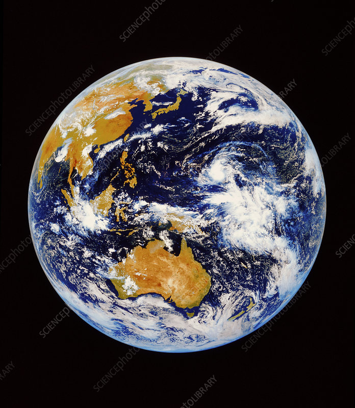Satellite image of Australasia