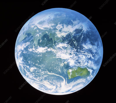 Earth centred on Australasia