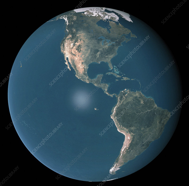 Satellite image of the Americas