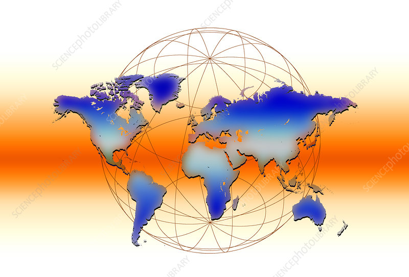 Earth grid illustration
