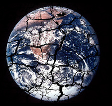 Cracked earth, conceptual image