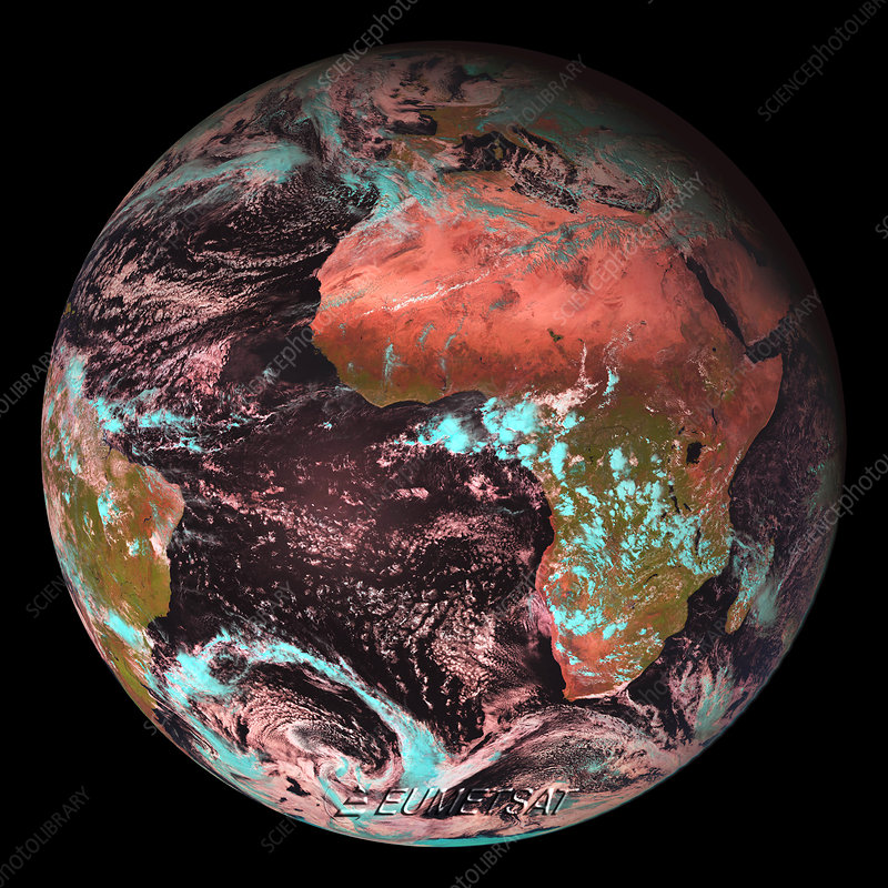 Earth from space, infrared image, 2006
