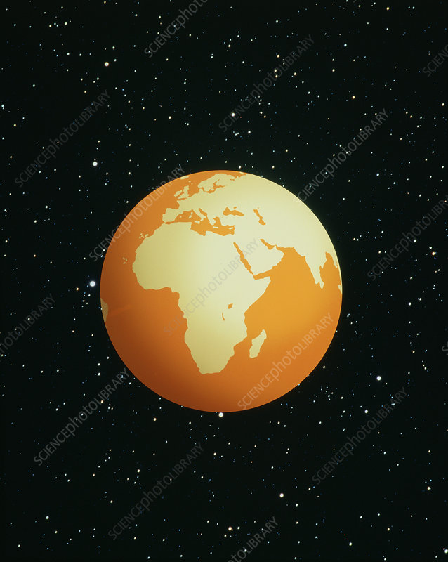Earth centred on Africa