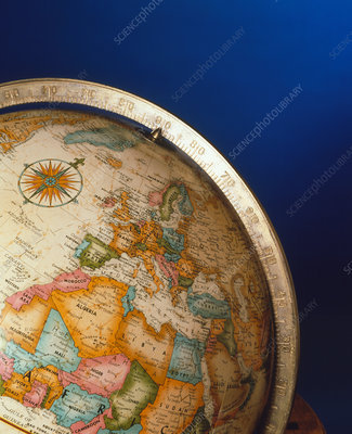Part of an Earth globe, centred on Europe & Africa
