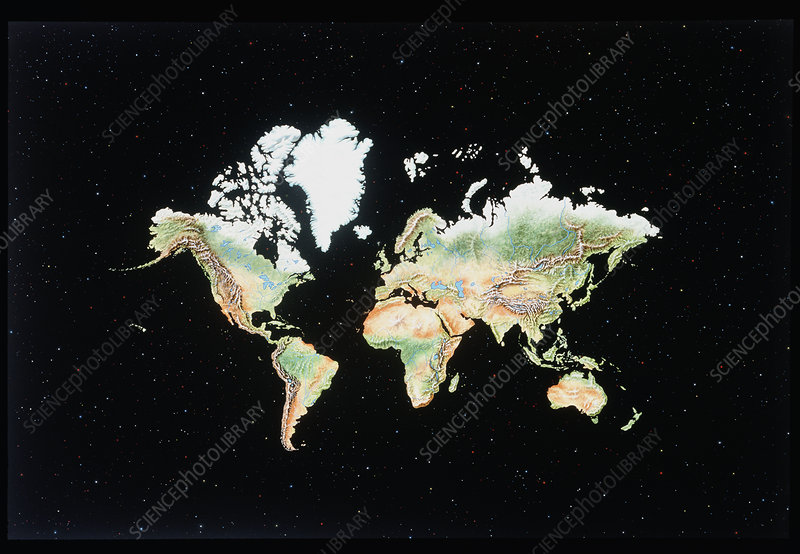 Earth, Mercator projection
