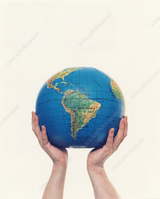 Inflated Earth globe