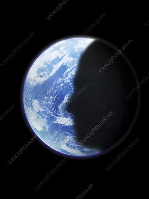 Human shadow on Earth, artwork