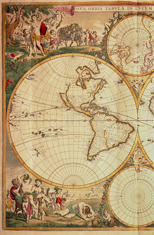 The Americas, from de Wit's Atlas of 1689