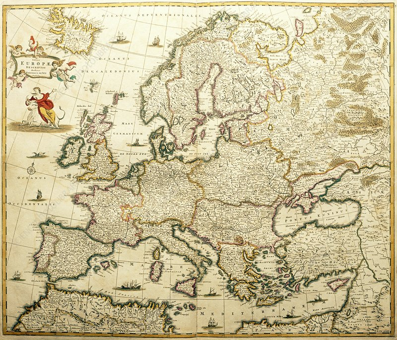 Map of Europe, from de Wit's Atlas of 1689