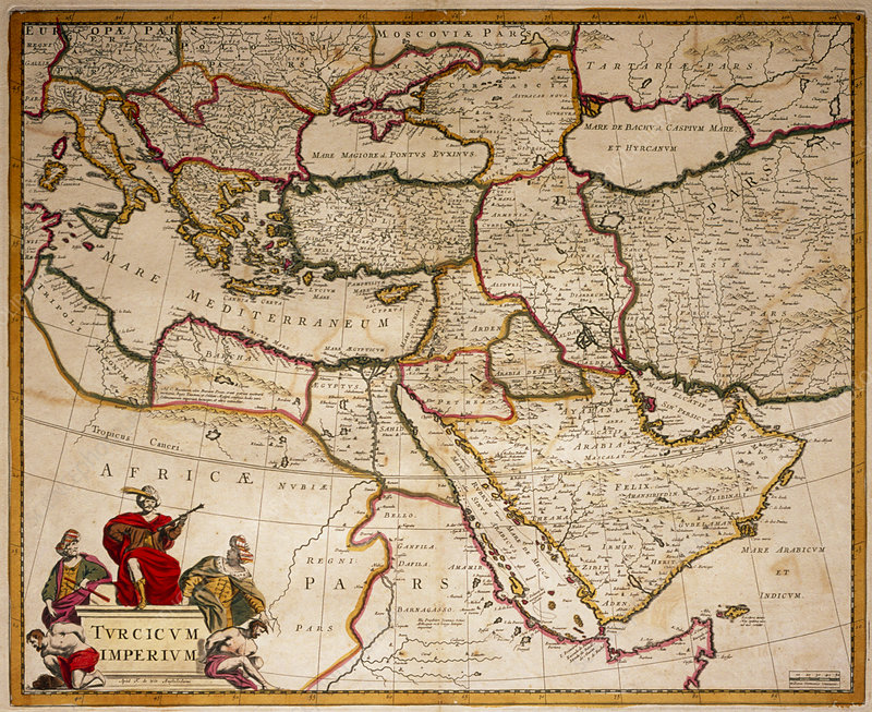 Map of Ottoman empire in 17th century