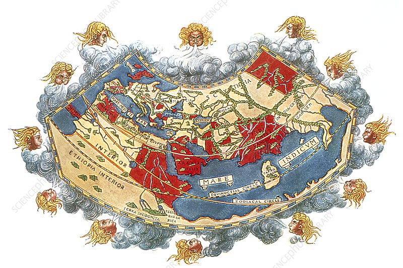 Ptolemy S World Map Stock Image E056 0030 Science Photo Library
