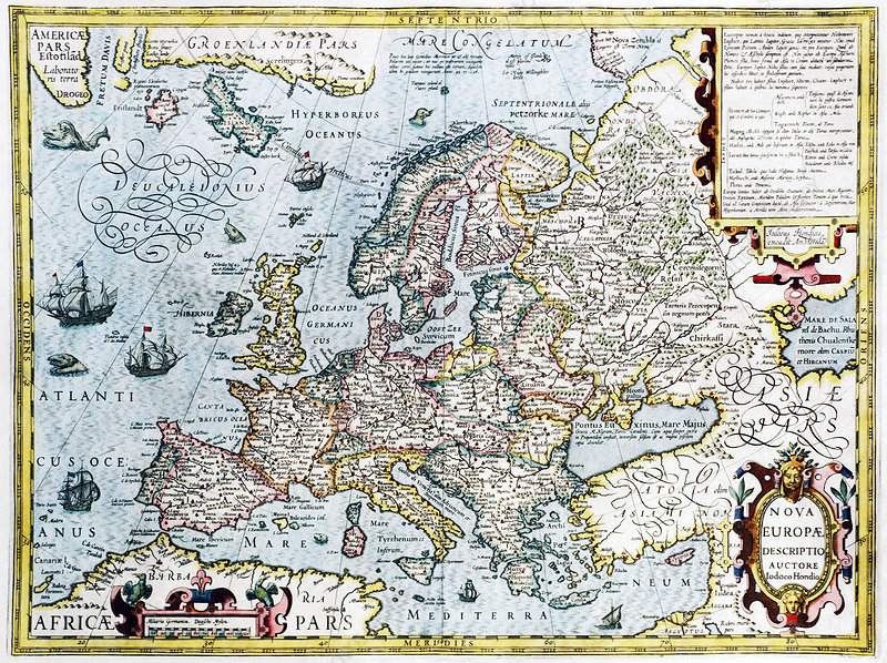 map of europe 17th century 17th century map of Europe   Stock Image   E056/0037   Science