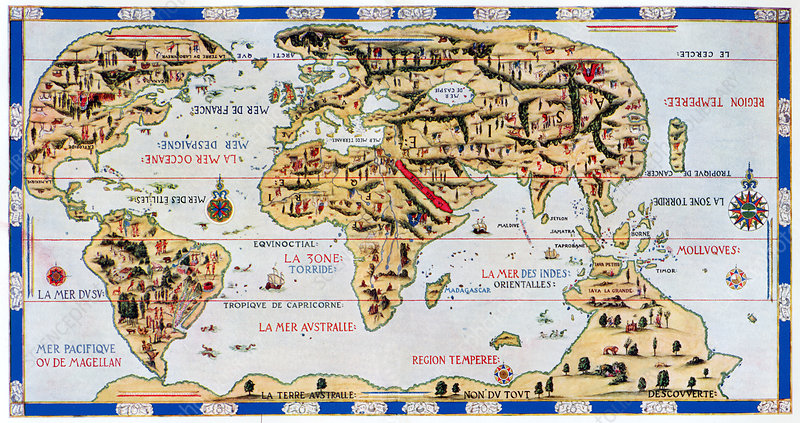 16th century world map stock image e0560046 science photo library 16th century world map gumiabroncs Images