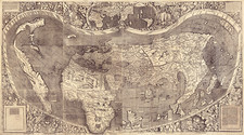 Early map of the world, with America