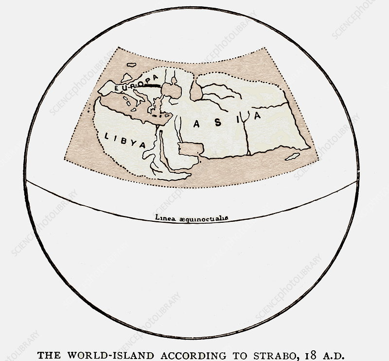 Strabo's map from 18 AD