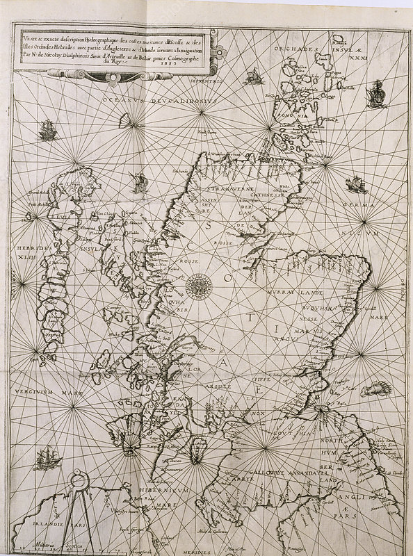 Map of Scotland, 1583